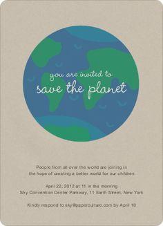 Save the Planet Invitation