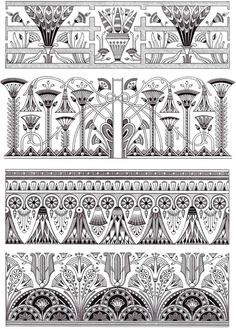 Dover Creative Haven Art Deco Egyptian Designs Coloring Page 1