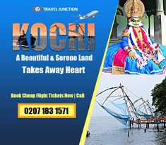 Kochi is truly a blessed place to discover, the serenity, beauty and tranquility of the place wins the heart of the vacationers. Pick the best deal to #Kochi and fly there. Call at: 0207 183 1571