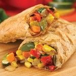 Organic Roasted Vegetable Fillo Pocket Sandwich (5 oz.) - An assortment of oven roasted garden #vegetables seasoned with basil, parsley and pepper, wrapped with Organic #Fillo dough in the shape of a hand-held rectangle. Microwavable. #Healthy: USDA #Organic, #Vegan, #Kosher OU-Parve, Yeast-Free, No Trans-Fat, No Cholesterol. See nutrition or shop online at http://www.fillofactory.com/brands/brands-aunt-trudys.html.
