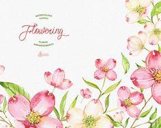 Flowering. Watercolour arrangements templates от OctopusArtis