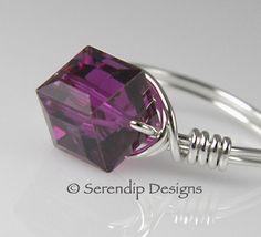 Sterling Silver Fuchsia Pink Purple by SerendipDesignsJewel, $24.00