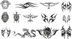 Tattoo tribal CDR EPS Vector Layered Cut File Silhouette Cameo Cricut Design Template Stencil Vinyl Decal Tshirt Heat Transfer by MonomShop on Etsy