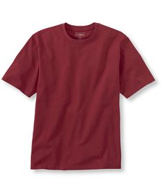 Carefree Unshrinkable Tee, Trim Fit: T-Shirts | Free Shipping at L.L.Bean