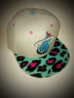 South Beach Miami Heat Leopard print Snapback by KnoIdeaKingJames, $39.99 #knoidea #crowdfavorite