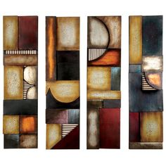 Aspire 4 Piece Abstract Wall Décor Set & Reviews | Wayfair