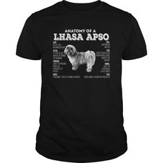 ANATOMY OF A LHASA APSO.  Available in t-shirt/hoodie/long tee/sweater/legging with many color and sizes.