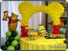 Winnie-the-Pooh first birthday | CatchMyParty.com