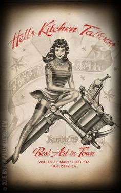 Adding this to my pin up girl tattoos idea. Pin Up Girl Tattoo, Pin Up Tattoos, Tattoo You, Girl Tattoos, Tatoos, Tattoo People, Hells Kitchen, Rockabilly Pin Up, Rockabilly Fashion