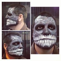 Zombie skeleton face makeup