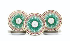 Plates from Lee Radziwill sale in New York- Obsessed! If anybody can find these for me, please contact us. Palais Royal Paris, Green Print, Lee Radziwill, Porcelain, Iron, Plates, 19th Century, Objects, Prints
