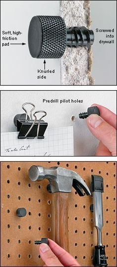 Magnetic Studs - Woodworking -- wouldn't a short flat head screw work as well? the 2 together could be dipped in vinyl.