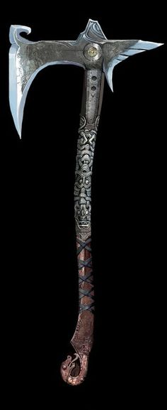 God Of War Axe Kratos - Knifes and Inspirations - Fantasy Sword, Fantasy Weapons, Larp, Machado Viking, Vikings, Kratos God Of War, Viking Axe, Armadura Medieval, Battle Axe