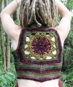 Freeform Mandala Crochet Hippie Pixie Forest Nymph Vest on Etsy, $140.24 AUD