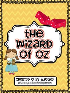 free Wizard of Oz writing unit- so cute!