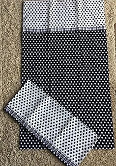 """Black & White polka dots Handmade 100% Cotton Pillowcase or Pillow cover, QUEEN size pillowcase - Ready to Ship. Handmade 100% Cotton QUEEN Pillowcase. Qty 1 SOLD INDIVIDUALLY BODY: White polka dots on black back ground CONTRASTING BAND: Black and White small print plaid CUFF: Black polka dots on white background Cute Bedroom decor Approx measurements 20 1/2"""" x 36"""" It's quick, easy and fun to change bedroom decor with pillow case that reflect the seasons or a special theme. Generously…"""