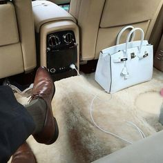 Returning home in my Rolls-Royce Phantom EWB after some Hermes Birkins shopping
