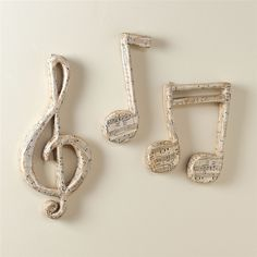 for the music room Papier Mache Music Notes