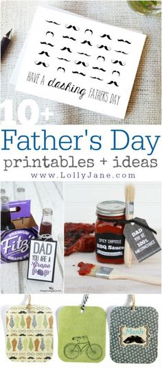 10+ Father's Day printables + ideas via @Lolly Jane {lollyjane.com}