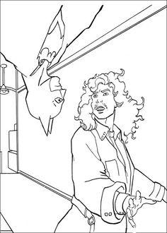 Batman Fargelegging for barn. Tegninger for utskrift og fargelegging nº 29
