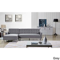 Dorris Fabric Contemporary Left Chaise Sectional Sofa set | Overstock™ Shopping - Big Discounts on Sectional Sofas