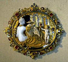 FRENCH RENAISSANCE Anonymous (active c. 1500 - 1600)  Cameo with Leda & the Swan & Cupid.