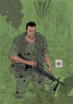 "Goran Parlov illustrated this Punisher pic for the upcoming new Punisher Max story, ""The Platoon."" An account of Frank Castle's first tour of Vietnam on the road to become The Punisher. Owosso Harpist Sherry Konkus lives in Owosso, MI. She's the proud author of The Punisher Harp Zone and the one who came up with ... Read more..."