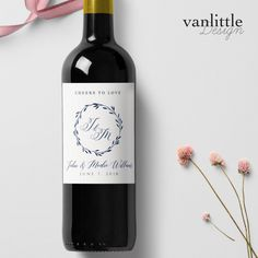 Drink Bottle Label Template New Custom Wedding Wine Labels Personalized Wine Label with<br> Wedding Wine Labels, Wedding Wine Bottles, Personalized Wine Labels, Beer Label Design, Theme Color, Wine Bottle Labels, Wine Parties, Label Templates, Blog