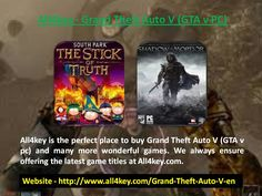 All4key is the perfect place to buy Grand Theft Auto V (GTA v pc) and many more wonderful games. We always ensure offering the latest game titles at All4key. Read more - http://www.all4key.com/Grand-Theft-Auto-V-en