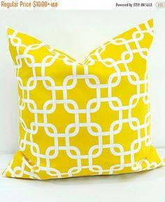 Lime Green Gotcha Chain Link  Pillow  Cover    Handmade  10 x 15