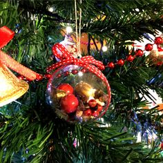 Handmade Christmas ball 6cm Christmas by fiocchidicotone01 on Etsy