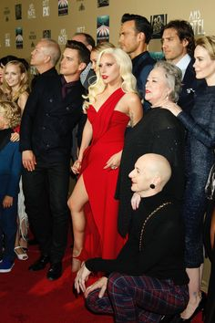 The cast of American Horror Story: Hotel premiere at the Red Carpet.