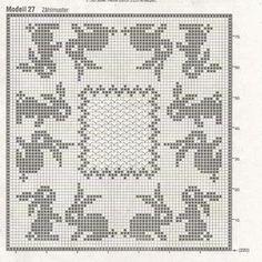 0_dc566_2ec77be5_orig (1212×1218) Easter Crochet, Crochet Bunny, Knit Crochet, Crochet Diagram, Crochet Chart, Crochet Patterns, Easter Tablecloth, Fillet Crochet, Bunny Crafts