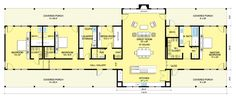 Ranch Style House Plan - 3 Beds 3.5 Baths 3108 Sq/Ft Plan #888-8 Floor Plan - Main Floor Plan - Houseplans.com