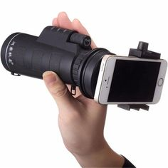 Hunting & Hiking Telescope Lens and Camera with Phone Holder. This Camera and Lense is perfect if you are hunting, hiking, at the golf course or whatever! Use it only as a Telescope, or you can attach