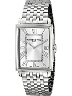 Raymond Weil Men's 5456-ST-00658 Maestro Stainless Steel Watch ❤ Raymond Weil Raymond Weil, Swiss Made Watches, Stainless Steel Watch