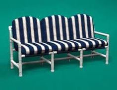 PVC Pipe Patio Furniture / United states Garden Sets for sale - Specific Use: Garden Set General Use: Outdoor Furniture Material: Plastic Style: Modern Brand Name: CASUALINE Place of Origin: United States Pvc Pipe Crafts, Pvc Pipe Projects, Outdoor Projects, Diy Projects To Try, Home Projects, Outdoor Decor, Pvc Patio Furniture, Furniture Plans, Pvc Chair