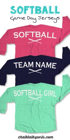Our popular classic long sleeve crew neck Game Day jersey.  This over-sized fit is guaranteed to be super comfy and perfect for game day or any day! Perfect gift for your favorite softball girl! Only from ChalkTalkSPORTS.com!