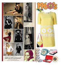 """"""" 1960's inspired """" by fashionqueen76 ❤ liked on Polyvore featuring Dolce&Gabbana, Andy Warhol, WALL, vintage and flowerpower"""