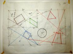 Sol Lewitt - Wall Drawing 274 The location of six geometric figures. (The specific locations are determined by the drafter.) September 1975 Black pe...