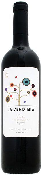 Botella de vino La Vendimia