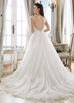 Courtesy of Sophia Tolli wedding dresses from Mon Cheri Bridals; Gorgeous Wedding Dress, Wedding Dress Styles, Bridal Dresses, Wedding Gowns, Bridesmaid Dresses, Wedding Attire, Prom Dresses, Mod Wedding, Wedding Ideas