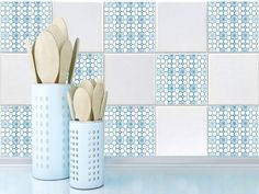 Tile Decals Stickers   Tile Decals   Tile Decals For Kitchen Or Bathroom    PACK OF 20   Mexico, Morocco, Portugal, Spain, Mosaic