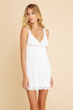 e572db0be3 Eberjey s Matilda Chemise  Women s classic chemise by Eberjey makes for a  simple and sexy nighty thats yours