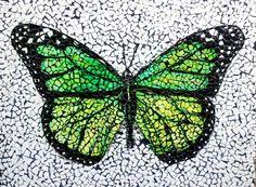 Egg shell mosaic - Mosaic en coquille d'oeuf - Cáscara de huevo mosaico