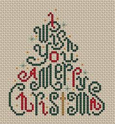 Christmas Wishes cross stitch pattern*