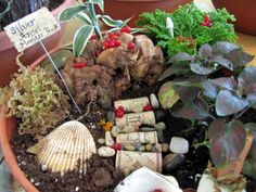 Lots of fairy gardens made by kids (This is a fantastic blog... filled with many, many ideas!)