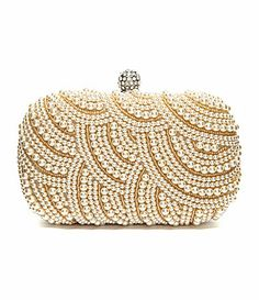 Kate Landry Pearl and Bead Frame Clutch #Dillards 2014 fall fashion trend