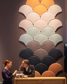 Ginkgo, Giovanni and Malin at Salone del Mobile Milan | p4.design #blastation #ginkgo #acoustic #panels #interiordesign #design #officedesign #furniture #salonedelmobile #mdw18 #p4mdw18 #fromp4 #p4