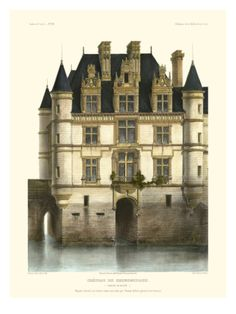 Petite French Chateaux XI Giclee Print by Victor Petit at Art.com